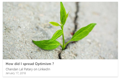How did I spread Optimism