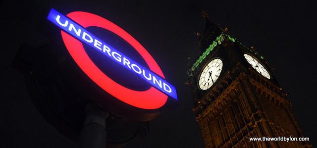 Clássica foto de Londres - Underground e Big Ben