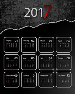 2017カレンダー無料テンプレート191