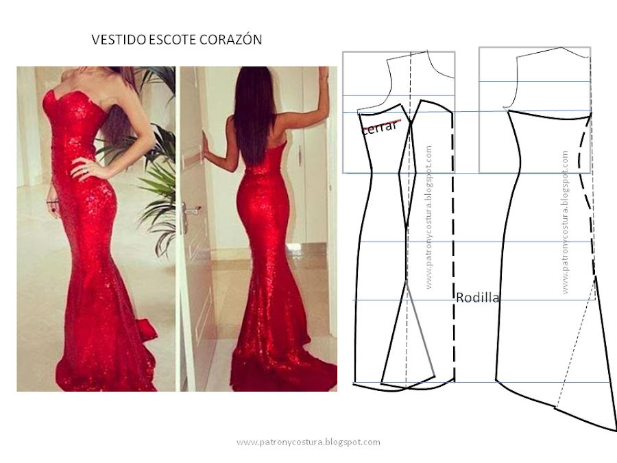 http://www.patronycostura.com/2014/01/tema-33-vestido-escote-corazon-y.html
