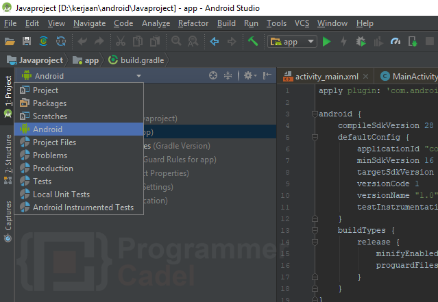 Structur project android