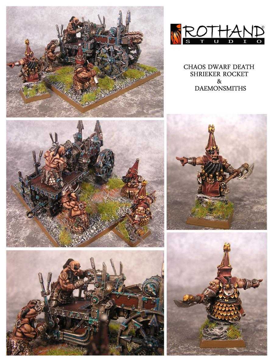 Rothand Studio: Hellcannon & Chaos Dwarf Death SHRIEKER