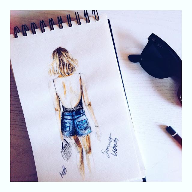 summer look sketch fashion
