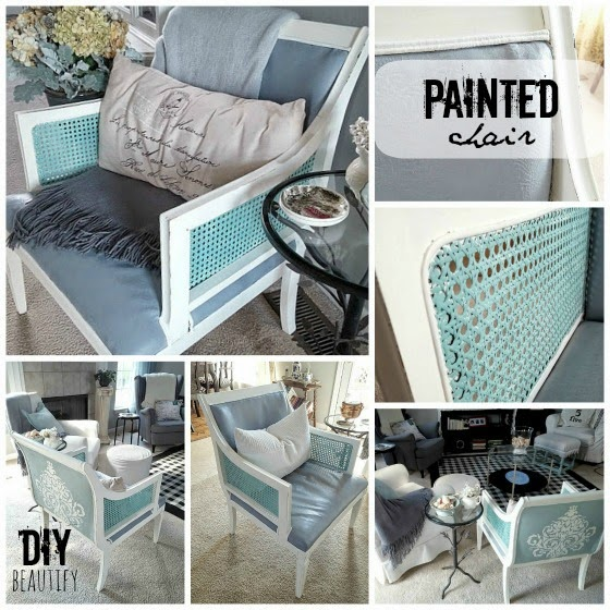Painting an Upholstered Chair www.diybeautify.com