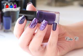 Cebella,nail holic kose, japan brand, Alquimia das cores, Marble Nails, roxo, lilás, esmaltes baratos,