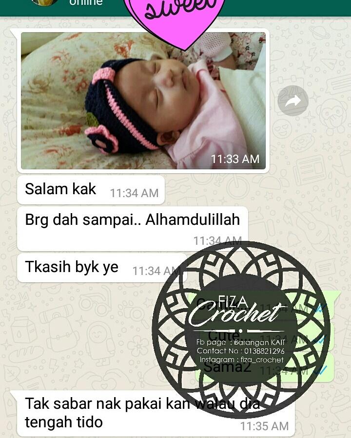 Turban tak tutup telinga untuk newborn