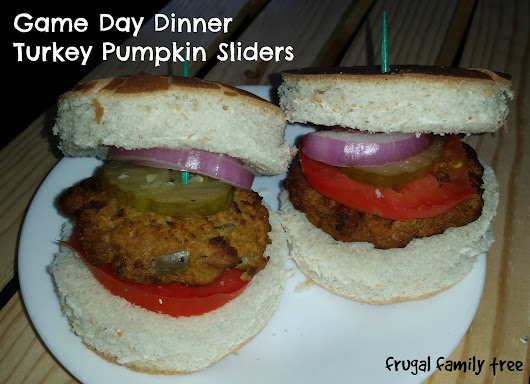 Turkey Pumpkin Sliders for Game Day Dinner and Giveaway #FosterFarmsGameday