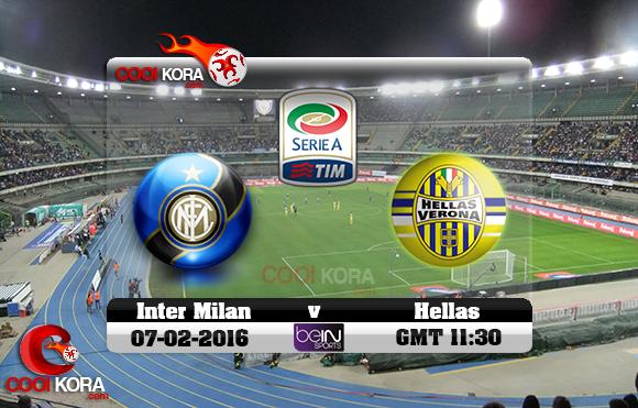 مشاهدة مباراة هيلاس فيرونا وإنتر ميلان اليوم 7-2-2016 في الدوري الإيطالي