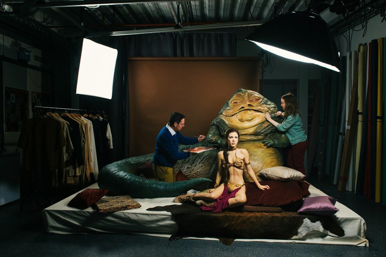 wax figure prince leia Tussauds
