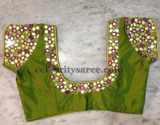 Trendy Mirror Wok Blouses Saree Blouse Patterns