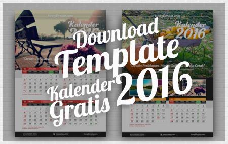 Download Gratis Template Kalender 2016 Terbaru