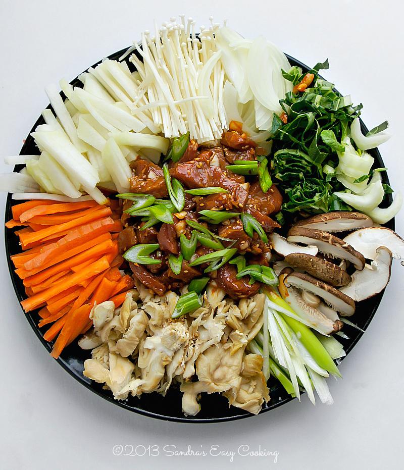 불고기전골 Bulgogi Jungol -Korean Bulgogi marinated beef