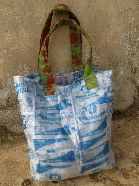 ghana styles recycling water sachets