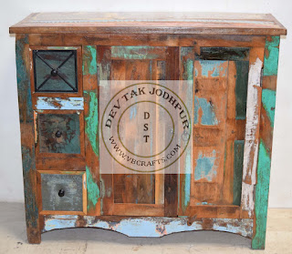 Reclaimed Wooden Drawer Cabinet Jodhpur