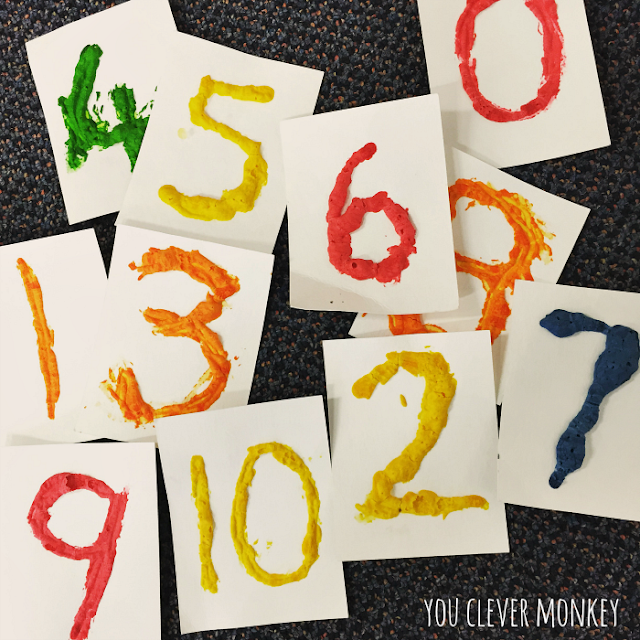 Make your own puffy paint numbers to help teach children the numerals 0-10 in their early years | you clever monkey