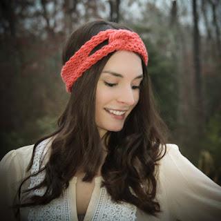 Loom knit twisted headband pattern free