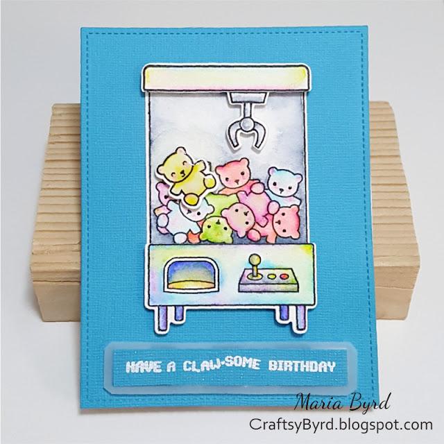 Lawn Fawn Claw-some Beary Birthday Card by Maria Byrd | CraftsyByrd.blogspot.com