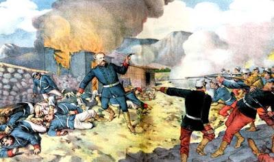 Ilustración de lo que fué la Batalla de Tarapacá