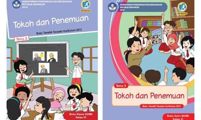 Buku Tematik Kelas 6 Tema 3 Kurikulum 2013 Revisi 2018 Siswa Guru Materiku
