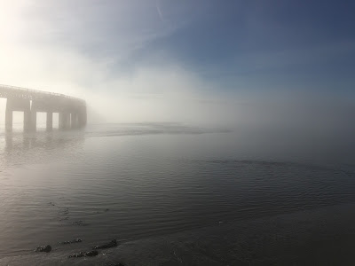 Tay rail bridge in the mist February 2017