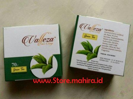 Sabun Wajah Green Tea (Teh Hijau) Valleza Face Soap