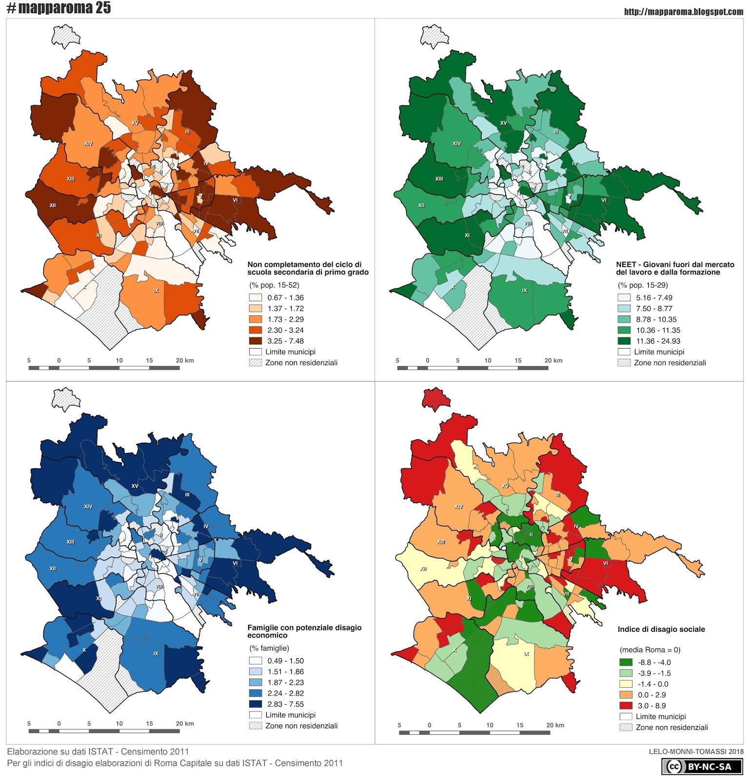 Cartina Roma Nord.Mapparoma25 L Esclusione Sociale Nei Quartieri Di Roma Mapparoma