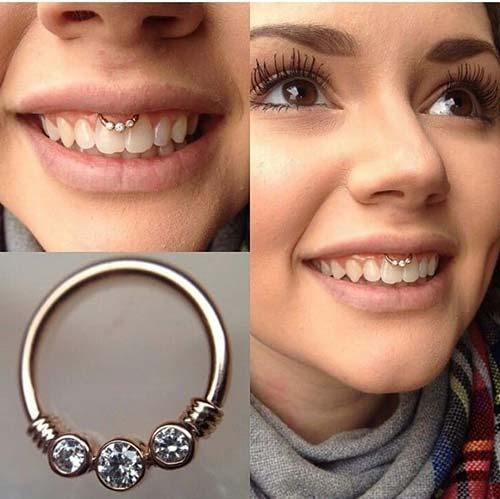taşlı smiley piercing çeşitleri