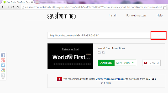 Youtube IDM, Savefrom