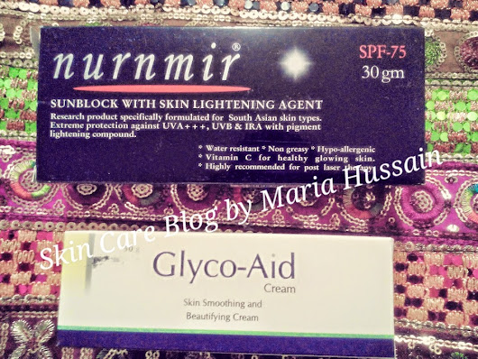 June Skincare Haul ( Nurnmir Sunblock + Glyco-aid cream + Clinagel + L'Oreal Paris Hydra-Total 5 Sensitive)  ~ Skin Care Blog by Maria Hussain
