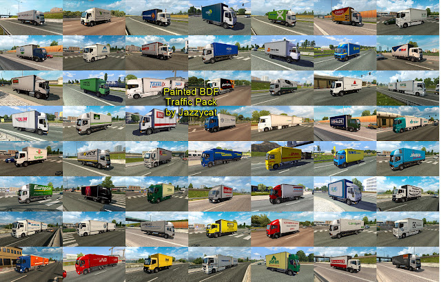 ets 2 painted bdf traffic pack v5.2 screenshots 2