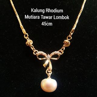 Model Perhiasan Kalung Mutiara Lombok