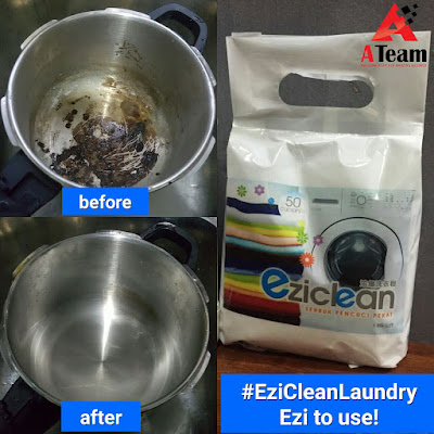 eziclean mencuci kesan hitam di periuk