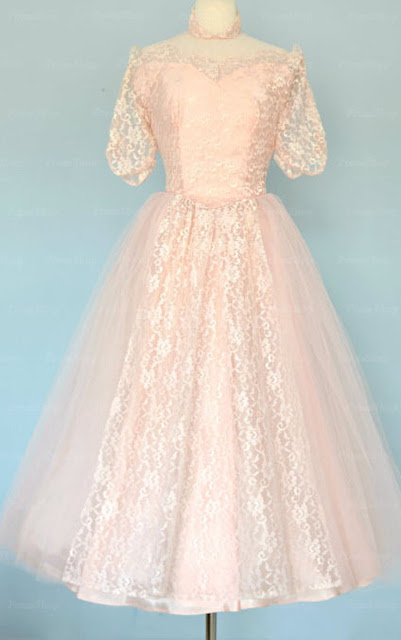 """8 Classic Dresses for Prom"" Blog Post/Article by @TheGracefulMist (www.TheGracefulMist.com) - Vintage Lace Dress - Pink"