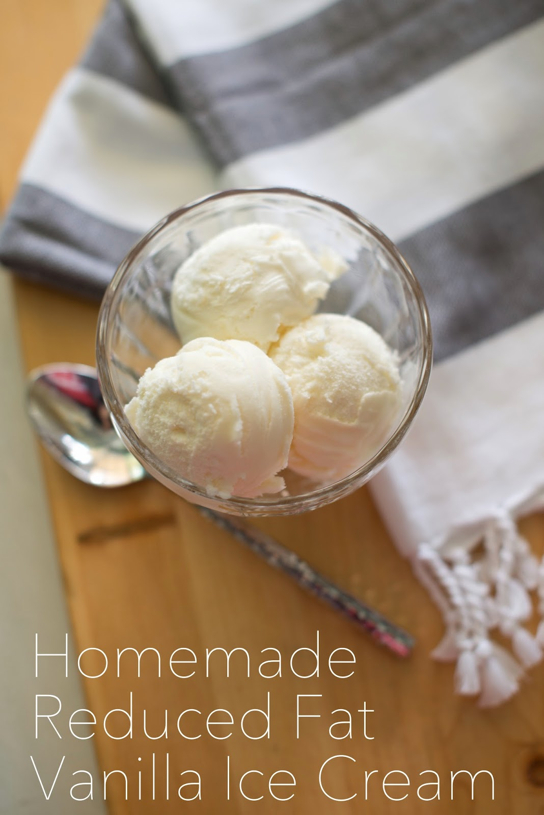 Homemade reduced fat vanilla ice cream--all the flavor of homemade ice cream without all the fat!