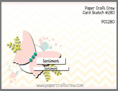 Paper Craft Crew Card Sketch Challenge #PCC280 with Stampin' Up! Products order from Mitosu Crafts UK Online Shop