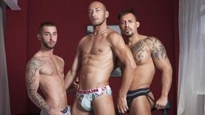 Viktor Rom, Alejandro Torres and Dominic Arrow – Interracial threesome (Bareback)