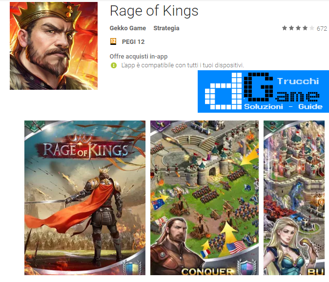 Trucchi Rage of Kings Mod Apk Android