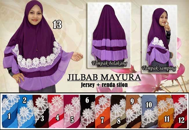 jilbab syar'i bahan jersey ukuran jumbo dan panjang dengan model instan
