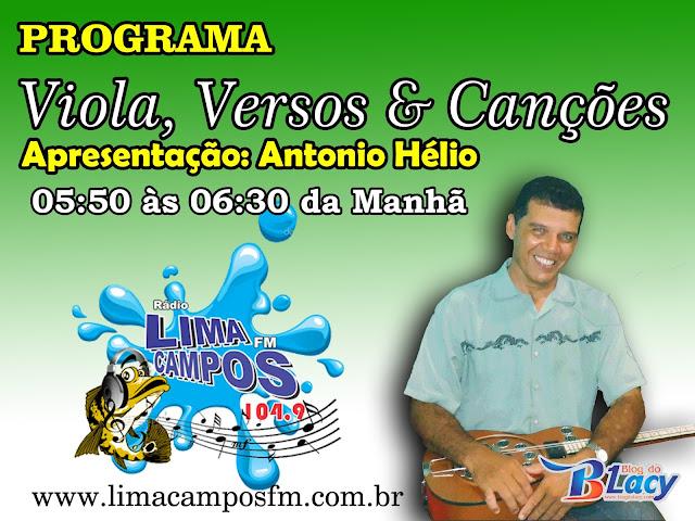 LIMA CAMPOS FM ESTRÉIA PROGRAMA DE CANTORIA