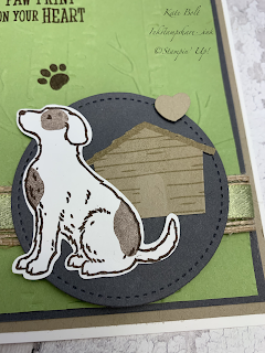 Happy Tails card. Dog Card, Stampin' Up!. Card made using Dog stamps and punch