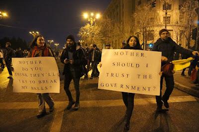 tüntetések Romániában, OUG 13, Grindeanu-kormány, btk.-módosítás, korrupció, Liviu Dragnea, Sorin Grindeanu,