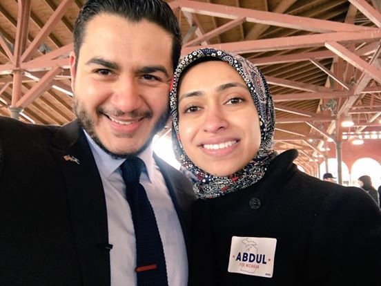 Dr El-Sayed with his wife Sarah