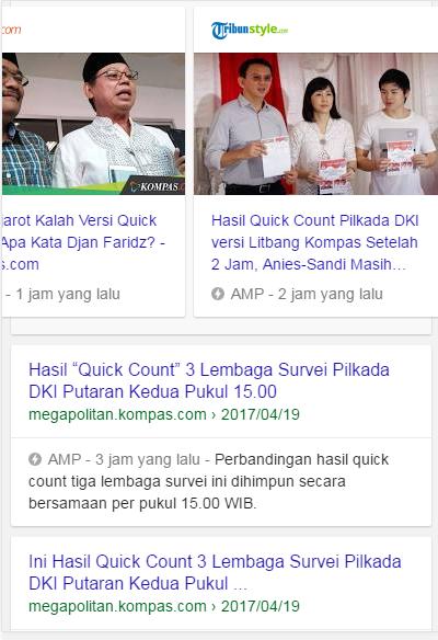 Hasil quick Count DKI