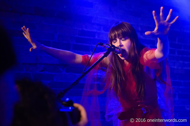 Le Butcherettes at Velvet Underground in Toronto, March 5 2016 Photos by John at One In Ten Words oneintenwords.com toronto indie alternative music blog concert photography pictures