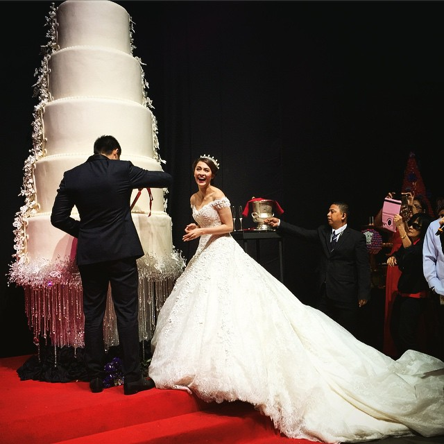 marian rivera and ding dong dantes wedding cake