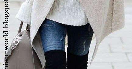 High knee boots winter fashion