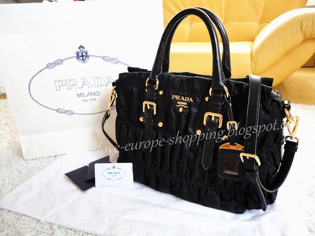 9beb5dabeb44 ♥~ LOVE EUROPE LOVE BAGS ~ ♥: PRADA Gaufre Fabric Top Handle Bag BN1336