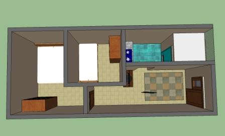 48 Inspirasi Terbaru Desain Rumah Kontrakan 3 Petak