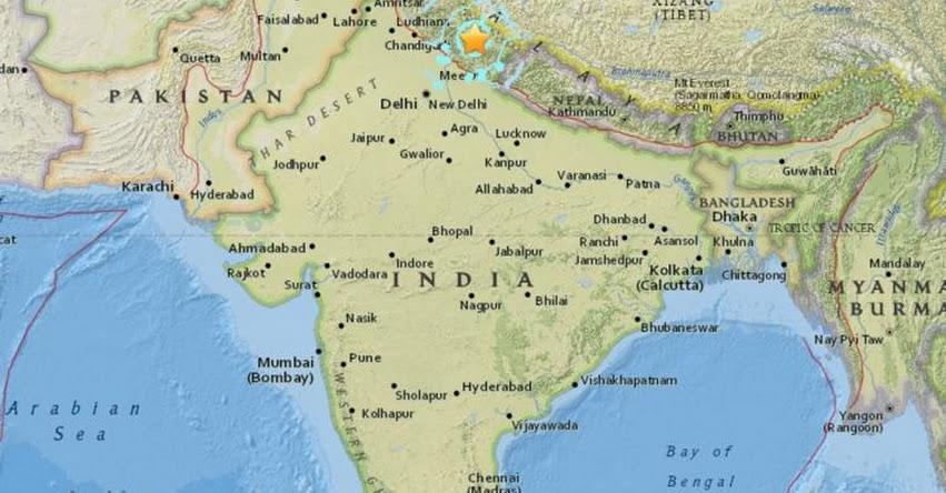 TERREMOTO EN INDIA de Magnitud 5.2 - Alerta de Tsunami (Hoy Sábado 2 Junio 2018) Sismo Temblor EPICENTRO - Puerto Tezu - USGS