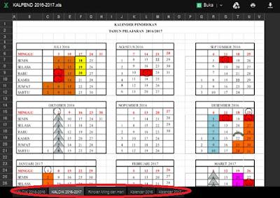 Seluruh elemen pendidikan tentu sudah menyiapkan segala bentuk persiapan untuk menhadapi  Download Kalender Pendidikan Tahun Pelajaran 2016/2017